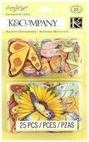 """Стикеры для скрапбукинга """"Весенние бабочки"""""""