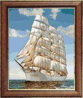 "Вышивка крестом ""Корабль Lucky"" (340х420 мм)"