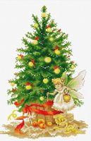 """Вышивка крестом """"Рождественская елка"""" (190х285 мм)"""