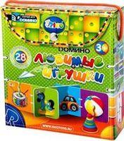 Любимые игрушки (3D-домино, 28 двусторонних карточек)