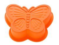 """Форма для выпекания силиконовая """"Бабочка"""" (165х135х35 мм; оранжевая)"""