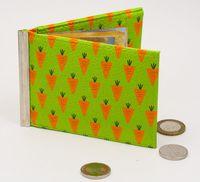 """Зажим для денег с монетницей """"Морковь"""""""