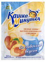 """Каша быстрого приготовления овсяная """"Кашка-минутка. С персиком со сливочным вкусом"""" (43 г)"""