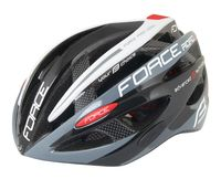 """Шлем велосипедный """"Road Pro"""" (черно-серо-белый; р. S-M)"""