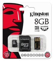 Карта памяти micro SDHC 8Gb Kingston Class 10 Mobility Kit