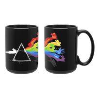 "Кружка большая черная ""Pink Floyd"" (арт. 310)"