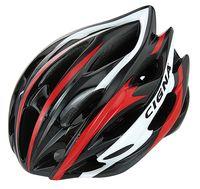 """Шлем велосипедный """"WT-015"""" (чёрный/красный/белый)"""