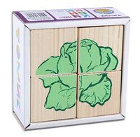 """Кубики """"Овощи"""" (4 шт)"""