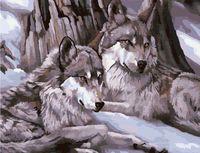 "Картина по номерам ""Серые волки"" (500x650 мм; арт. MMC007)"