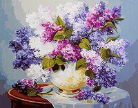 "Картина по номерам ""Сирень на столе"" (400х500 мм)"