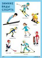 Развивающие плакаты. Зимние виды спорта