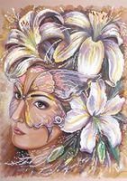 """Алмазная вышивка-мозаика """"Девушка в цветах"""""""