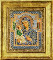 """Вышивка бисером """"Иерусалимская Богородица"""""""