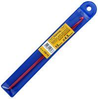 Крючок для вязания (красный; металл; 4.5 мм)