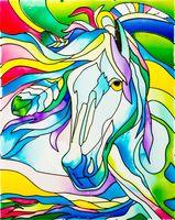 """Набор для росписи по стеклу """"Витражная картина. Лошадь"""" (400х500 мм)"""