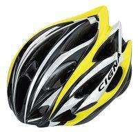 """Шлем велосипедный """"WT-015"""" (чёрный/жёлтый/белый)"""