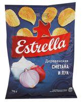 """Чипсы картофельные """"Estrella. Сметана и лук"""" (60 г)"""