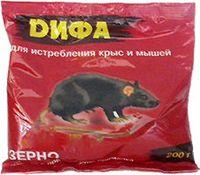 """Приманка для крыс и мышей """"ДИФА"""" зерновая (200 г)"""