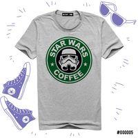 """Футболка серая унисекс """"Звездные войны. Кофе"""" S (005)"""
