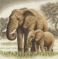 "Вышивка крестом ""Слоны"" (190х200 мм)"
