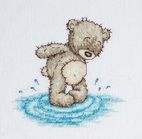 """Вышивка крестом """"Медвежонок Бруно"""" (140х135 мм)"""
