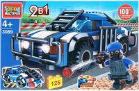 """Конструктор """"Полиция. Полицейская машина 2 в 1"""" (125 деталей)"""
