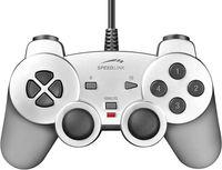 Джойстик проводной Speedlink Strike Gamepad с виброотдачей for PC (SL-6535-SSV-01; silver)