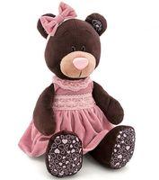 """Мягкая игрушка """"Медведь Milk в розовом бархатном платье"""" (50 см)"""