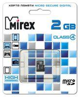 Карта памяти micro SD MIREX 2GB Class 4