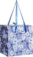 """Подарочная коробка """"Голубые цветы"""" M (16х16х8 см; арт. 44294)"""
