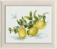 """Вышивка крестом """"Зубкова. Веточка лимона"""" (180х240 мм)"""