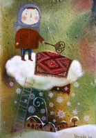 """Магнит на холодильник """"Снеговая тучка"""" (арт. 11.35)"""