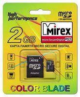 Карта памяти micro SDHC MIREX 2GB Class 4 (с адаптером)