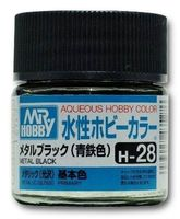Краска Aqueous Hobby Color водоразбавляемая (metal black, H-28)