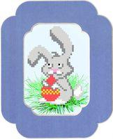 """Вышивка бисером """"Пасхальный кролик"""" (с паспарту)"""