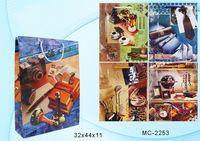 """Пакет бумажный подарочный """"Мужские часы"""" (в ассортименте; 32x44x11 см; арт. МС-2253)"""