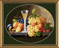 "Вышивка крестом ""Натюрморт с бокалом вина"" (390х310 мм)"