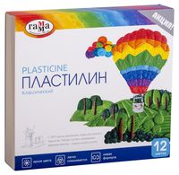 """Пластилин со стеком """"Классический"""" (12 цветов)"""