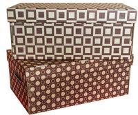 "Набор коробок ""Kardeco"" (2 шт.; коричневые; арт. GFK001c)"