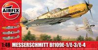 """Истребитель """"Messerschmitt Bf109E-1/E-3/E-4"""" (масштаб: 1/48)"""