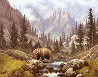 "Алмазная вышивка-мозаика ""Медведь на воле"" (500х390 мм)"