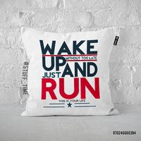 "Подушка ""Wake up and run"" (394)"