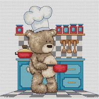 """Вышивка крестом """"Медвежонок Бруно"""" (180х165 мм)"""