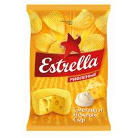 """Чипсы картофельные """"Estrella. Сметана и сыр"""" (125 г)"""