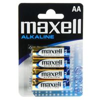 Батарейка AA LR06 Maxell алкалайновая (4 штуки)