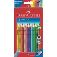 Цветные карандаши JUMBO GRIP в картонной коробке (12 цветов + точилка)