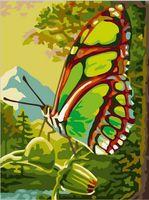 "Картина по номерам ""Зеленая бабочка"" (300х400 мм)"