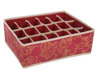 Органайзер для белья (18 ячеек; красный)