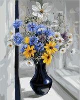 "Картина по номерам ""Букет на окне"" (500х650 мм)"