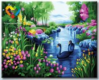 "Картина по номерам ""Чудесный пруд"" (400x500 мм; арт. HB4050280)"